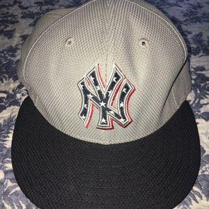 USA Yankees Flat Brim Hat